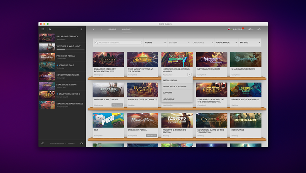 GOG Galaxy could be Steam's First Real Competitor