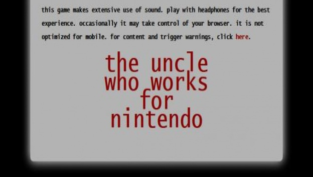 Play The Uncle Who Works for Nintendo and Be Afraid