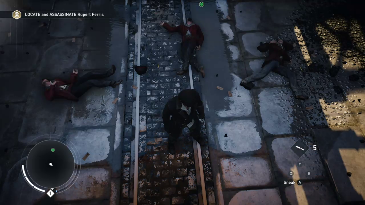 Three thugs dead on the ground