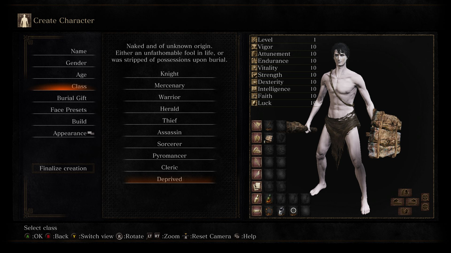 CCC: Dark Souls III Guide/Walkthrough - Character Creation