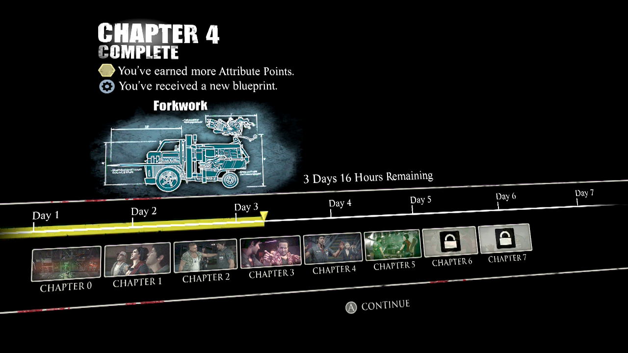 Ccc dead rising 3 guidewalkthrough chapter 4 unexpected guests chapter reward attribute points schematic forkwork malvernweather Images