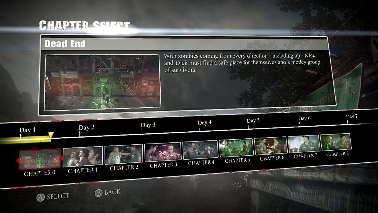Ccc dead rising 3 guidewalkthrough chapter 0 dead end malvernweather Choice Image
