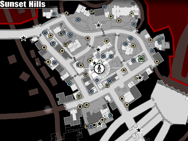 CCC: Dead Rising 3 Guide/Walkthrough - Sunset Hills Dead Rising Map Locations on