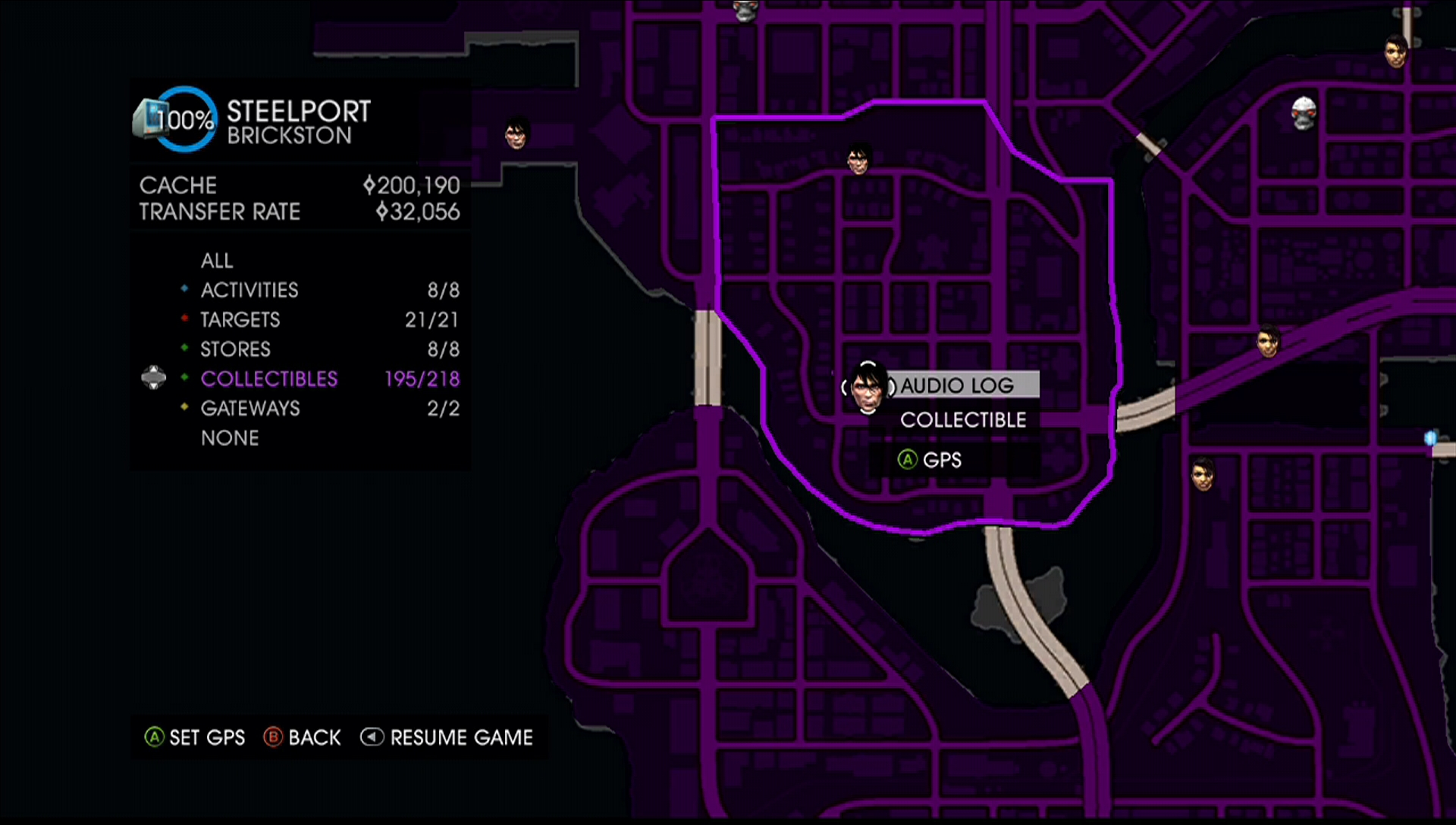 CCC: Saints Row IV Guide/Walkthrough - Audio Logs on saints row 5 map, the sims 1 map, assassin's creed 1 map, saints row map only, dark souls 1 map, guild wars 1 map, driver 1 map, gta 4 map, gta 1 map, dragon quest 1 map, portal 1 map, uncharted 1 map, gta san andreas map, risen 1 map, saints row hell map, saints row iv map, just cause 1 map, skyrim map, saints row cd map, resident evil 1 map,
