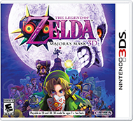 The Legend of Zelda: Majora's Mask 3D Box Art