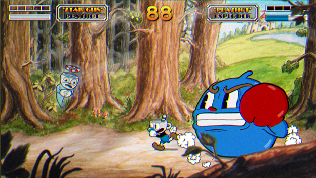 Cuphead in Don't Deal with the Devil Screenshot