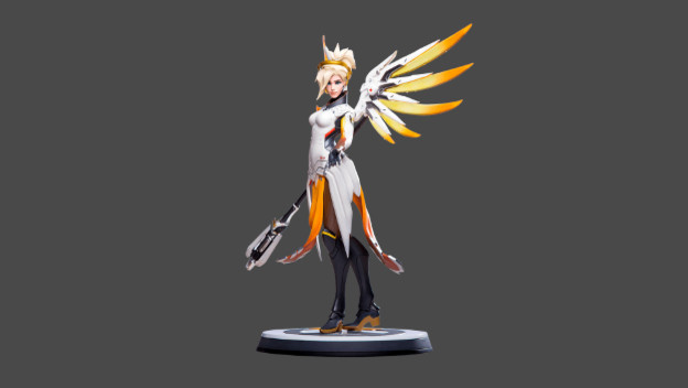 Overwatch's Mercy Gets Hand-Painted Statue - Cheat Code Central