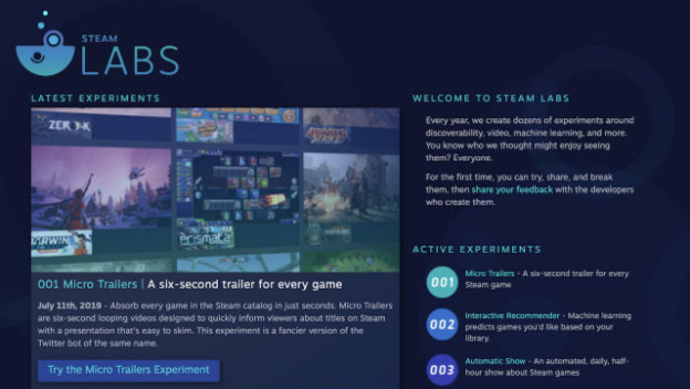 Valve Using Steam Labs for AI Game Recommendations - Cheat Code Central