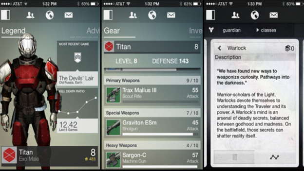 Destiny Companion App Stops Supporting the First Game