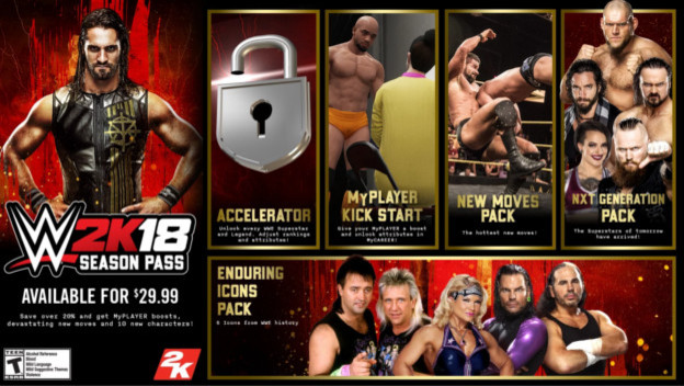 WWE 2K18 Season Pass Includes New Characters - Cheat Code Central