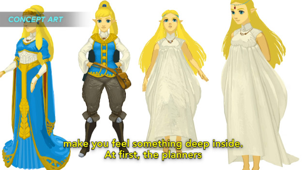 "Zelda Character Design Breath Of The Wild : Breath of the wild version zelda was ""challenging"