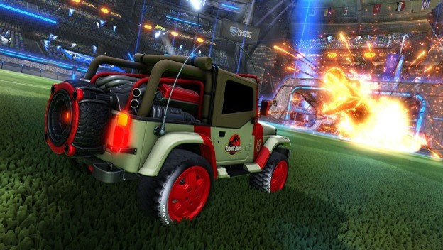 Rocket League To Receive New Jurassic Park Dlc Cheat Code Central