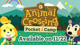 Animal Crossing: Pocket Camp Arrives November 22