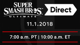 Super Smash Bros Ultimate Direct Will Air November 1, 2018