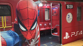 A Spider-Man Train Is Running in New York City