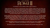 Total War: Rome II Devs Respond to Review Bomb Controversy