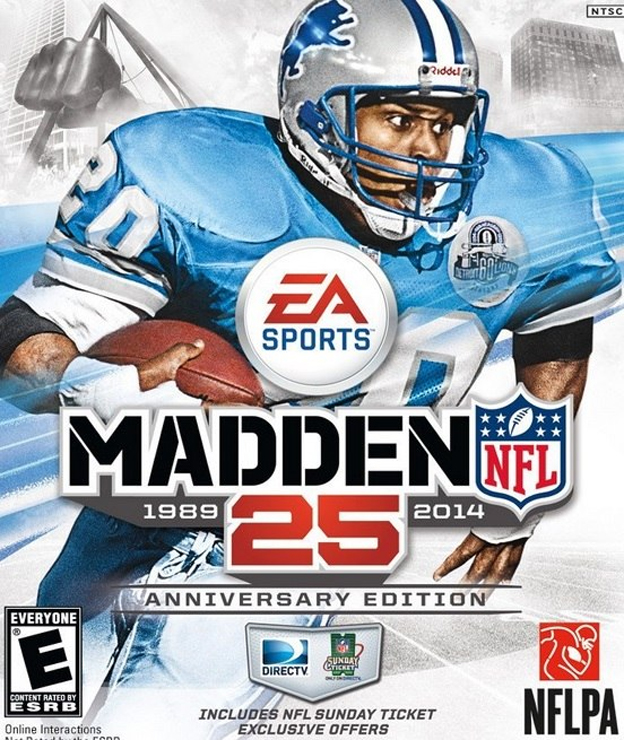 Barry Sanders Is The Madden 25 Cover Athlete