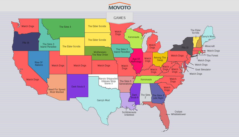 movoto releases map of most pirated games cheat code central