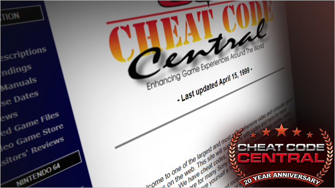 A Look Back at 20 Years of Cheat Code Central